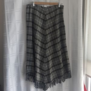Long patterned skirt - vintage wool blend